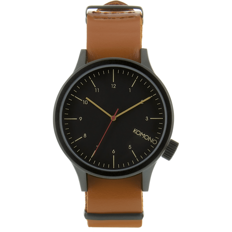 Komono Magnus Watch | Black Cognac KOM-W1901