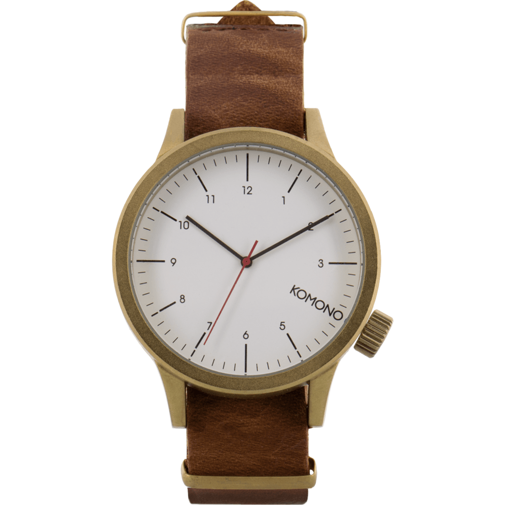 Komono Magnus Watch | Saddle Brown KOM-W1931