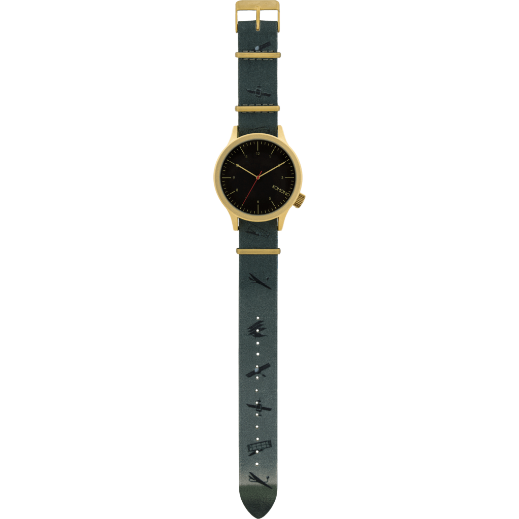 Komono x Magritte Magnus Watch | Black Flag KOM-W2886
