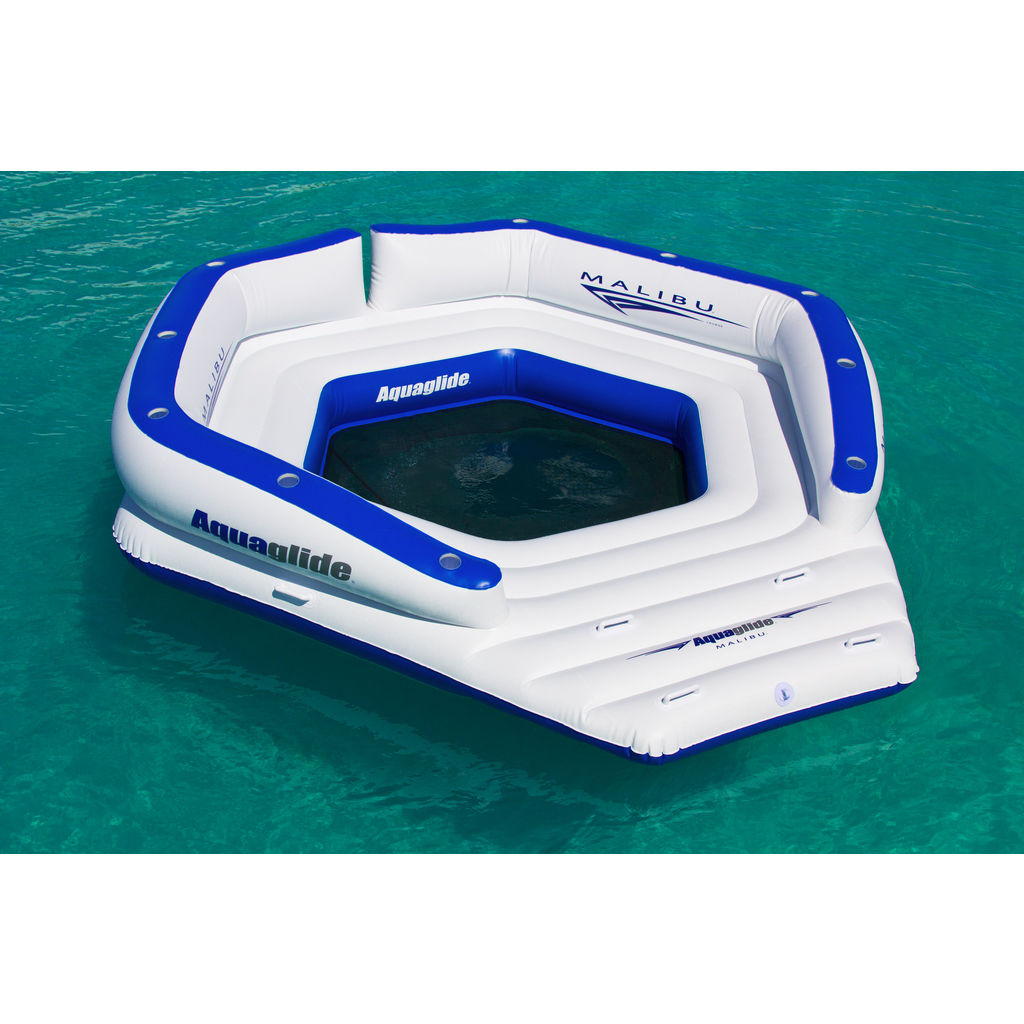 Aquaglide Malibu Lounge Inflatable Swim Platform | Blue/White 58-5214000