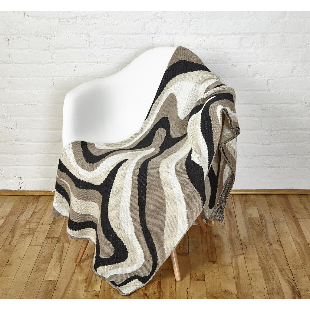 in2green Marble Eco Throw | Hemp/Black/Flax BL01MB2