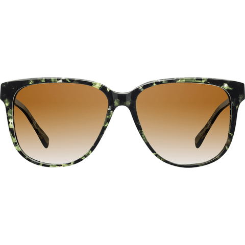 Shwood Mckenzie Acetate Sunglasses | Dark Forest & Elm Burl / Brown Fade WWAM3DFB2