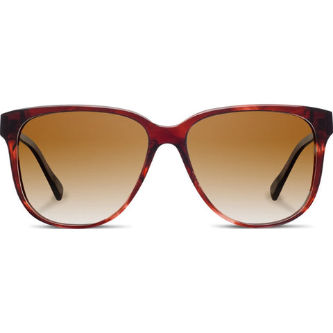 Shwood Mckenzie Acetate Sunglasses | Sangria & Ebony / Brown Fade Polarized WWAM3SB2P