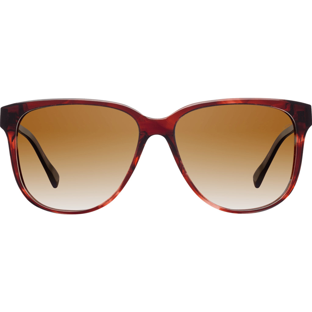 Shwood Mckenzie Acetate Sunglasses  | Sangria & Ebony Sunglasses / Brown Fade WWAM3SB2