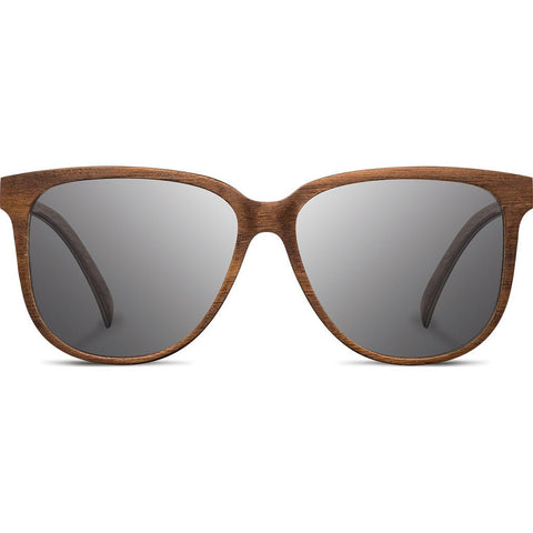 Shwood Mckenzie Wood Sunglasses | Walnut - Grey WWOM3FWG