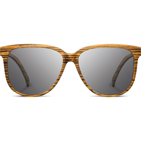 Shwood Mckenzie Wood Sunglasses | Zebrawood - Grey Polarized WWOM3FZGP