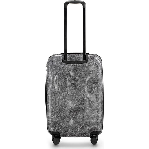 Crash Baggage Surface Medium Trolley Suitcase | White fur CB122-30
