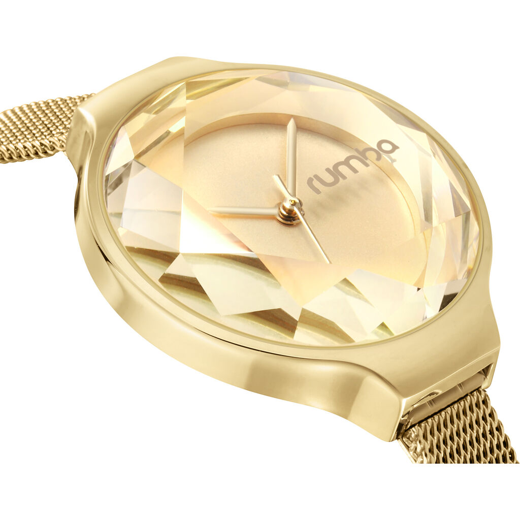 Rumba Time Orchard Gem Watch | Mesh Gold 24327