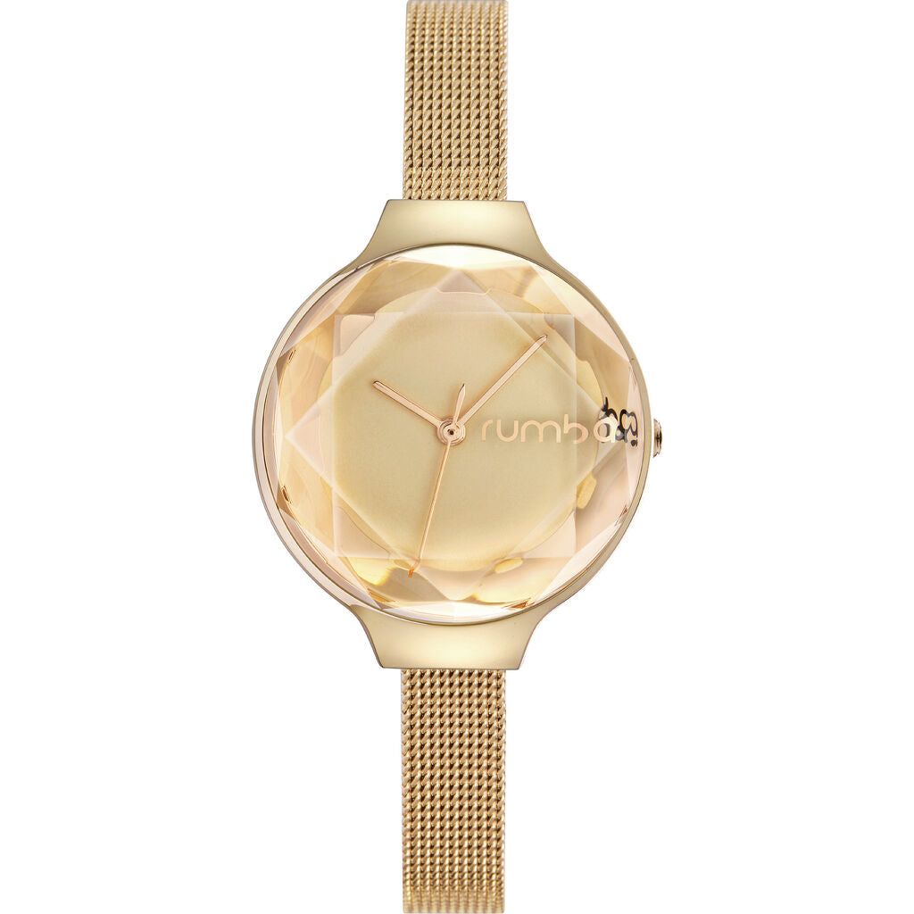 Rumba Time Orchard Gem Watch | Mesh Gold 24326
