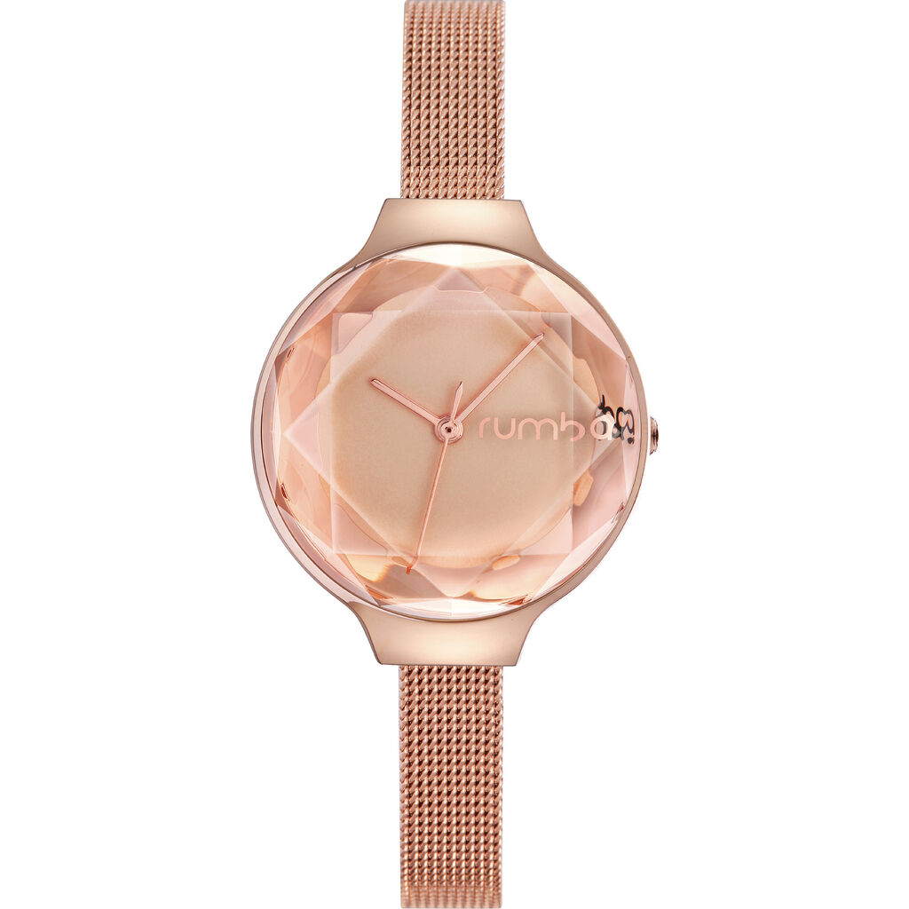 Rumba Time Orchard Gem Watch | Mesh Rose Gold 24333