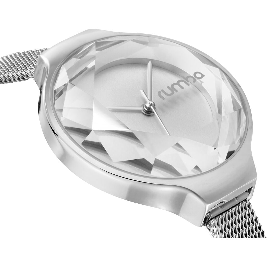 Rumba Time Orchard Gem Watch | Mesh Silver 24320