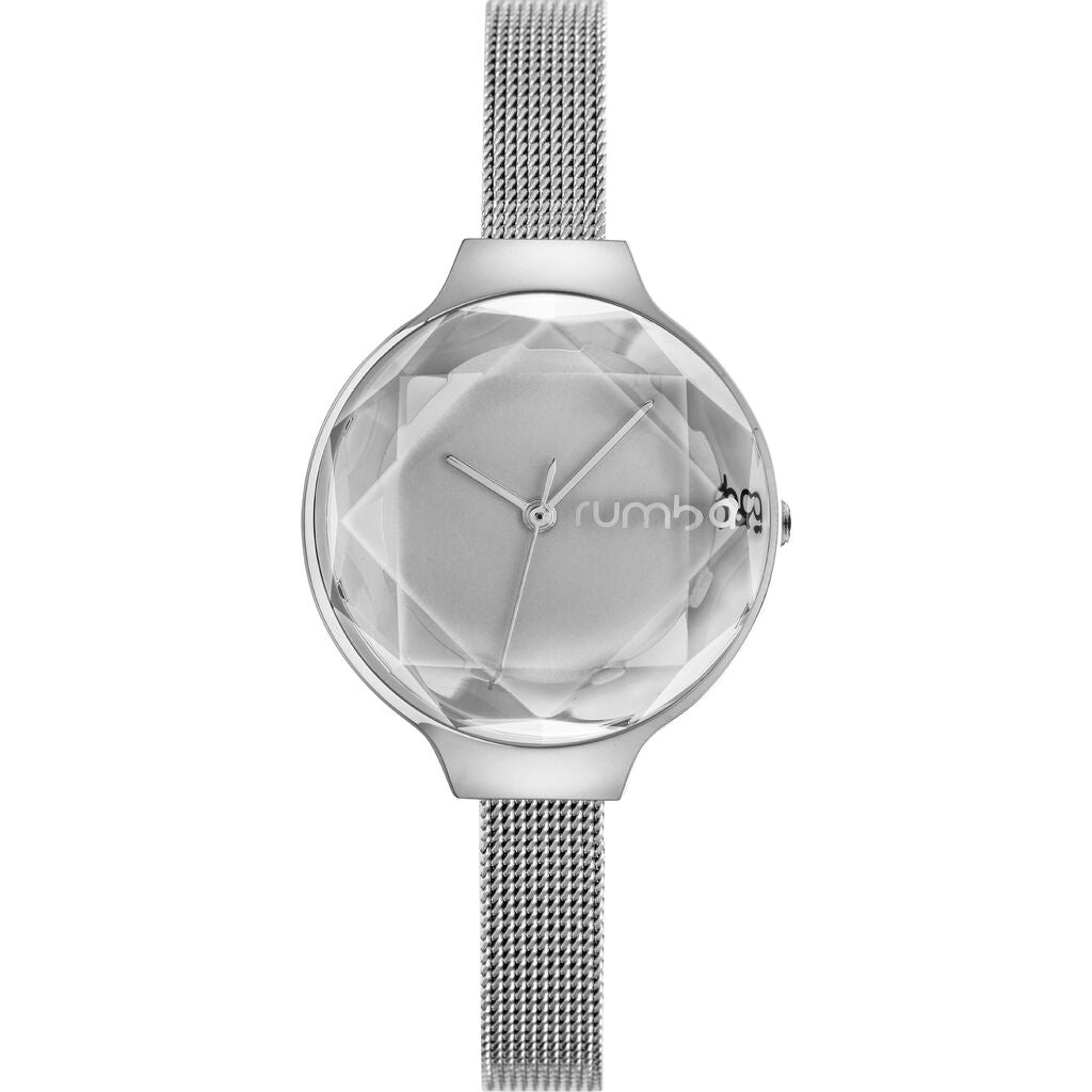 Rumba Time Orchard Gem Watch | Mesh Silver 24319