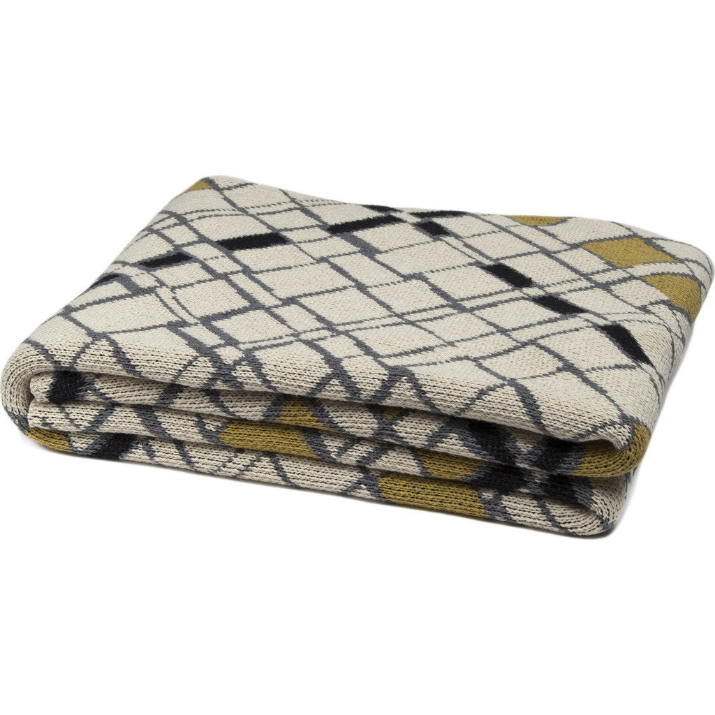 in2green Metro Eco Throw | Flax/Moss/Black BL01MT3