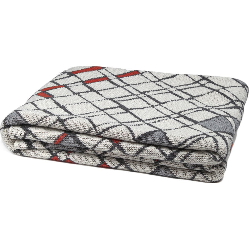 in2green Metro Eco Throw | Milk/Alum/Lipstick BL01MT2