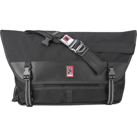 Chrome Metropolis Messenger Bag | Black/Black