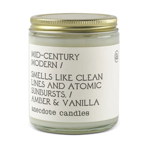 Anecdote Candles Glass Jar Candle | Mid Century Modern