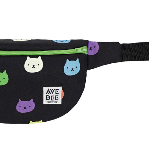 Avenue Dee Midnight Cats Fanny Pack | Black/Green