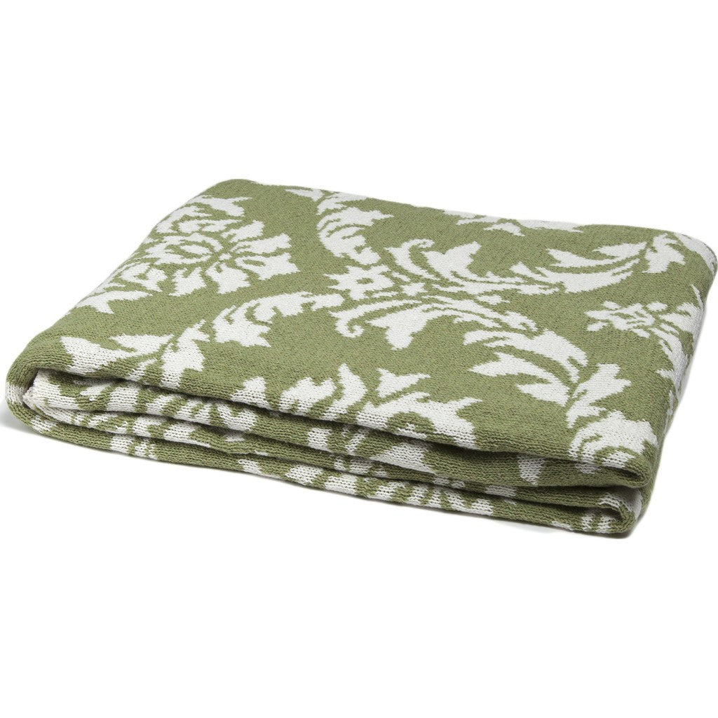in2green Damask Reversible Eco Throw | Apple/Milk BL02RDK4