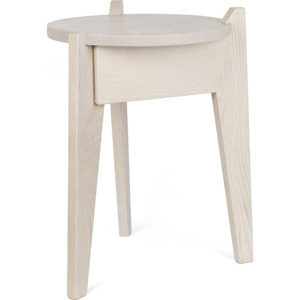 Esaila Milk Stool-Soft White  MLK-01-SWH