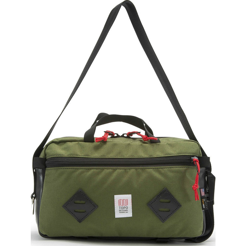 Topo Designs Mini Mountain Bag | Olive/Black Leather