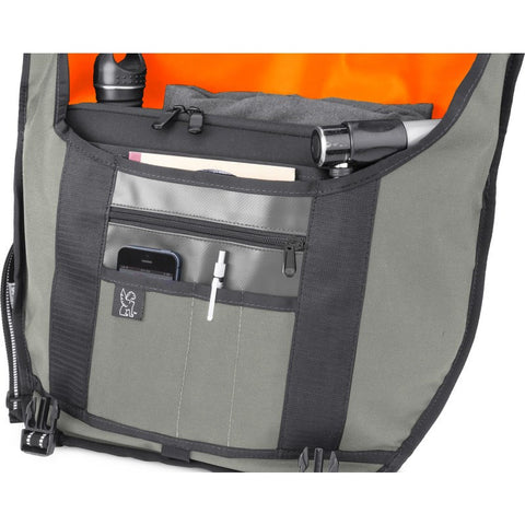 Chrome Waxed Poly Ltd Mini Metro Messenger Bag | Grey