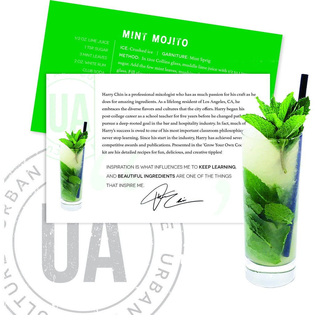 Urban Agriculture Grow Your Own Craft Cocktail | Mint Mojito GYOCC5