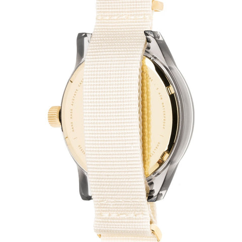 squarestreet SQ03 Minuteman Two Hand Off-White Watch | Grey/Beige NATO SQ03 B-16