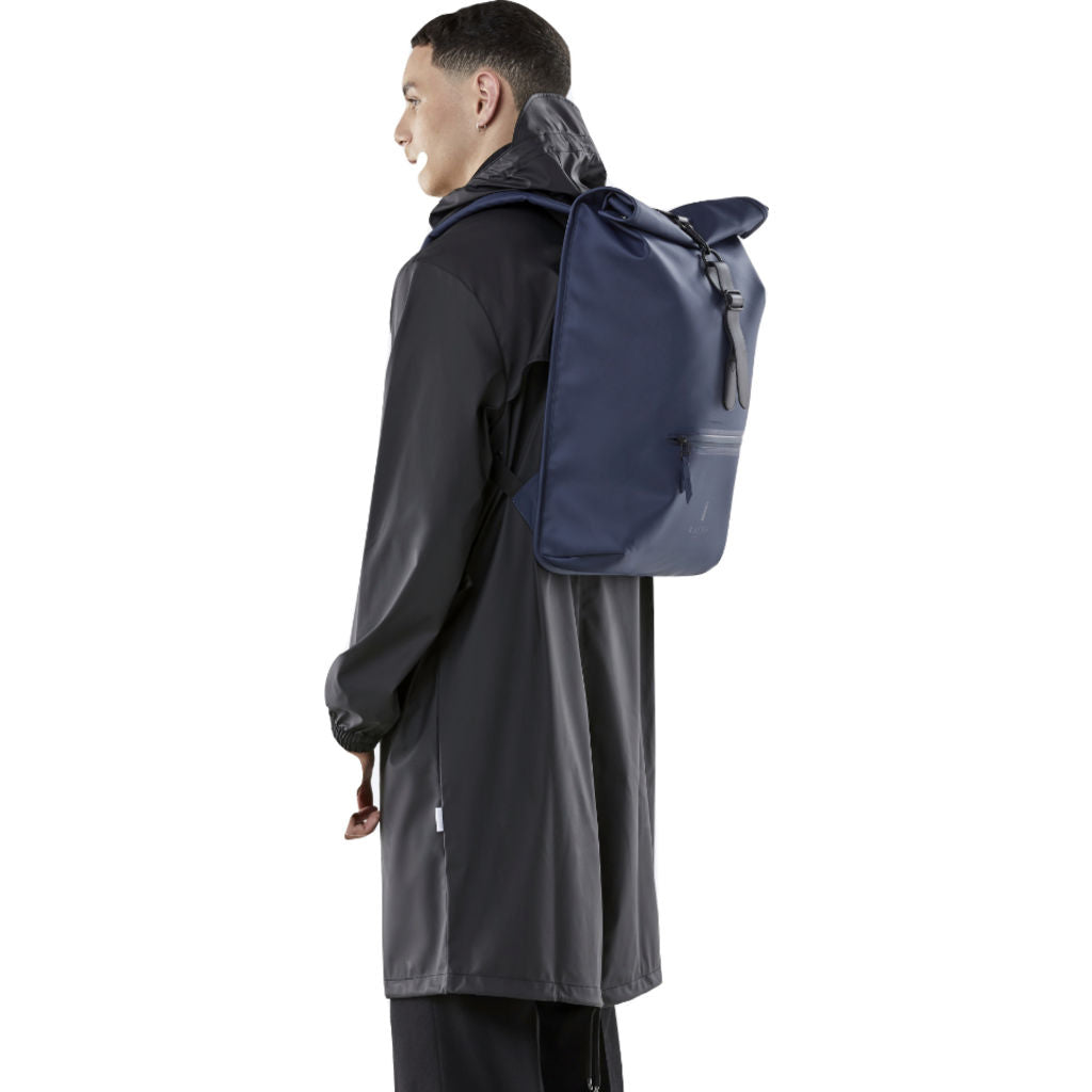 Rains Waterproof Rolltop Rucksack | Blue