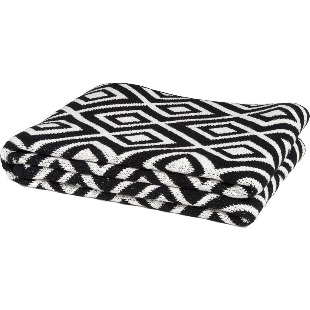 in2green Mod Square Eco Throw | Black BL01MSQ1