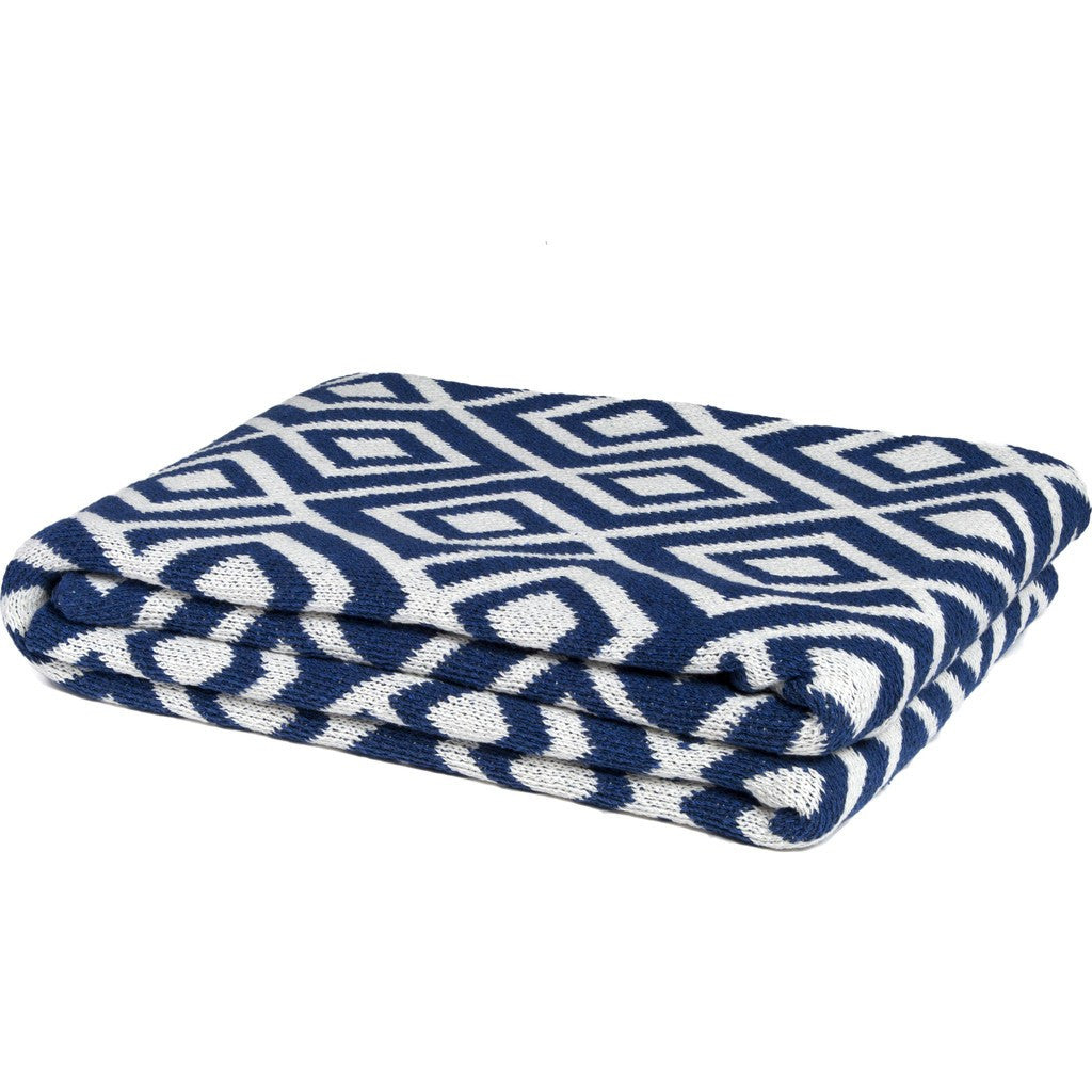 in2green Mod Square Eco Throw | Cobalt BL01MSQ6