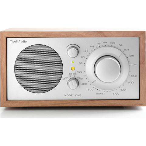 Tivoli Audio Model One Speaker Radio | Silver/Cherry M1SLC
