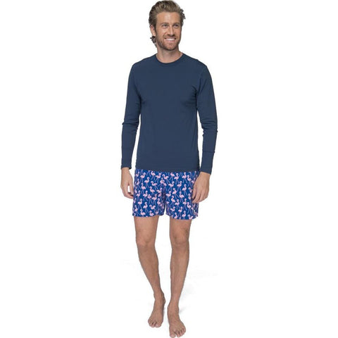 Tom & Teddy Men's Long Sleeve Rash Guard | Deep Blue