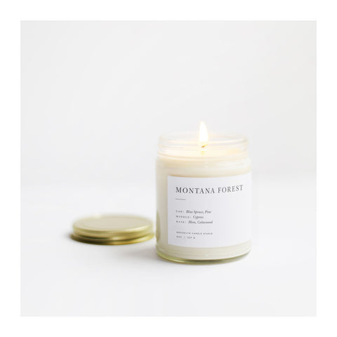 Brooklyn Candle Studio Minimalist Candle | Montana Forest