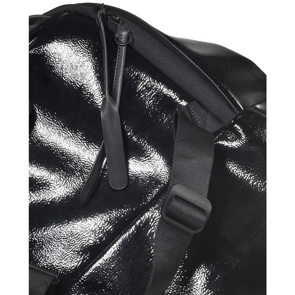 Cote&Ciel Moselle Shine Laquered Polymer Backpack | Liquid Black 28467