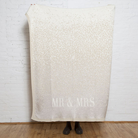 in2green Glitter Mr & Mrs Throw | Gold BL01WGL1