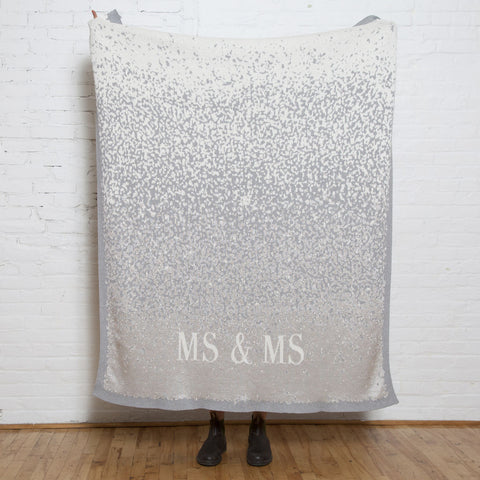 in2green Glitter Mr & Mrs Throw | Silver BL01WGL2
