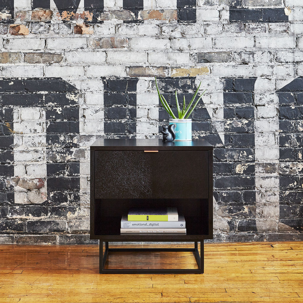 Gus* Modern Myles End Table | Black Oak ECETMYLE-ob