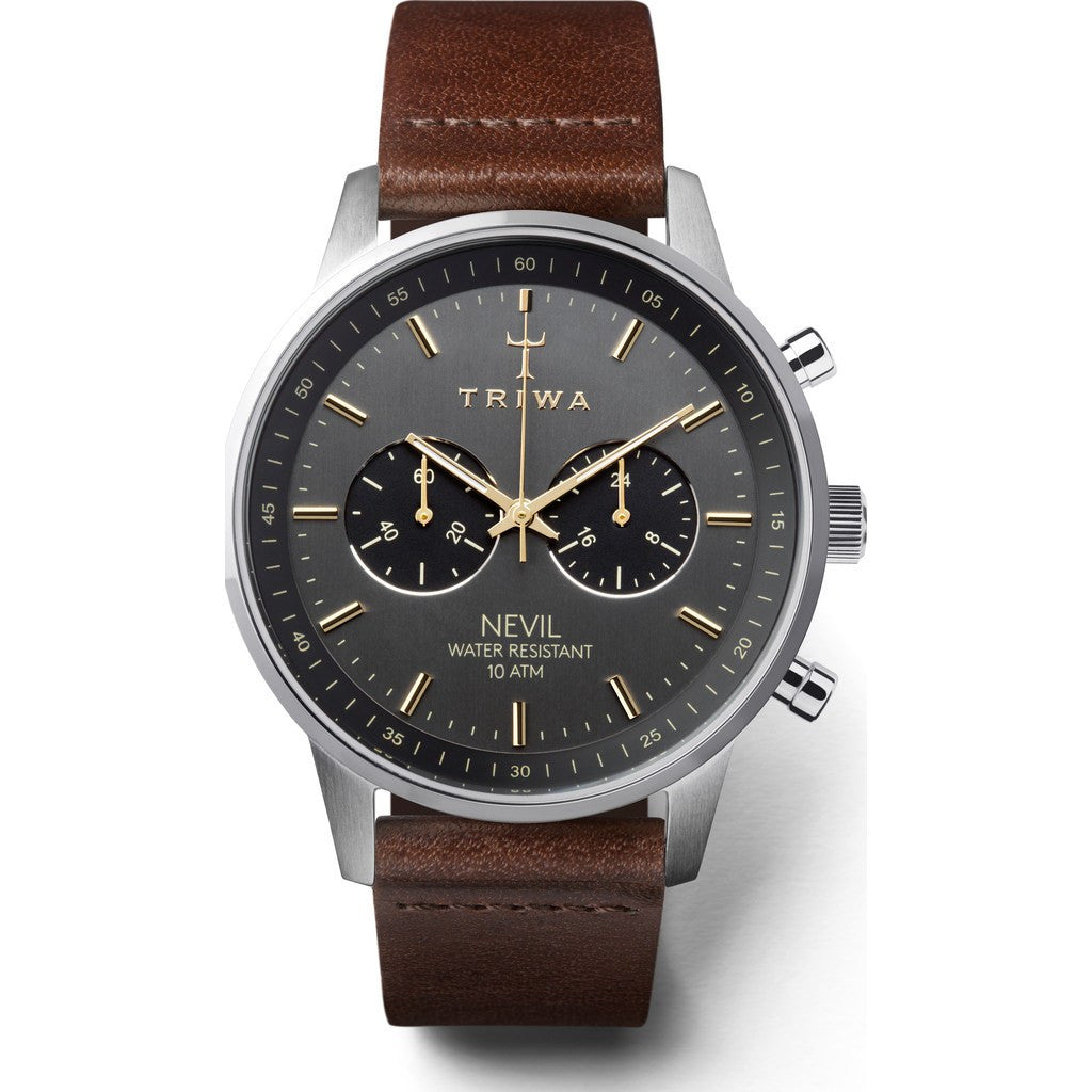 Triwa Smoky Nevil Watch | Dark Brown Classic NEST114CL010412