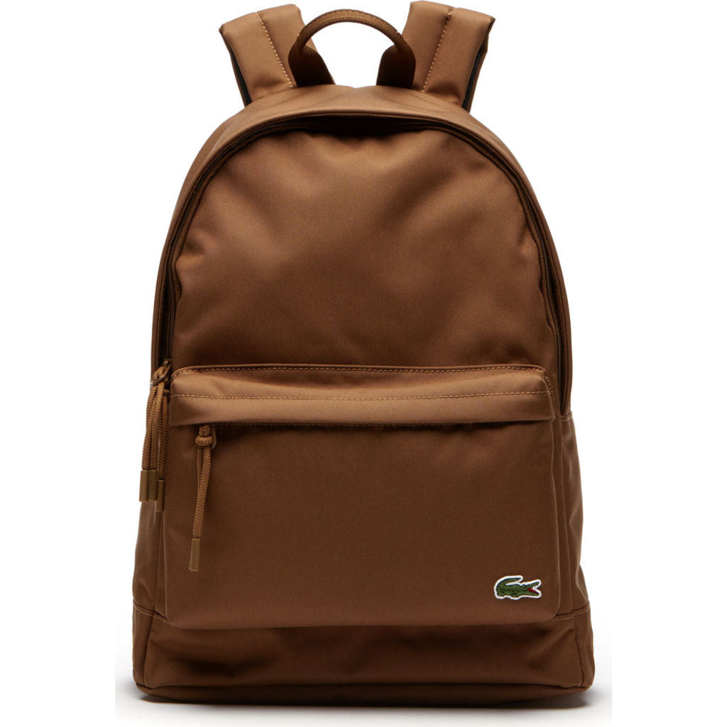 Lacoste Neocroc Canvas Backpack In Breen Sportique