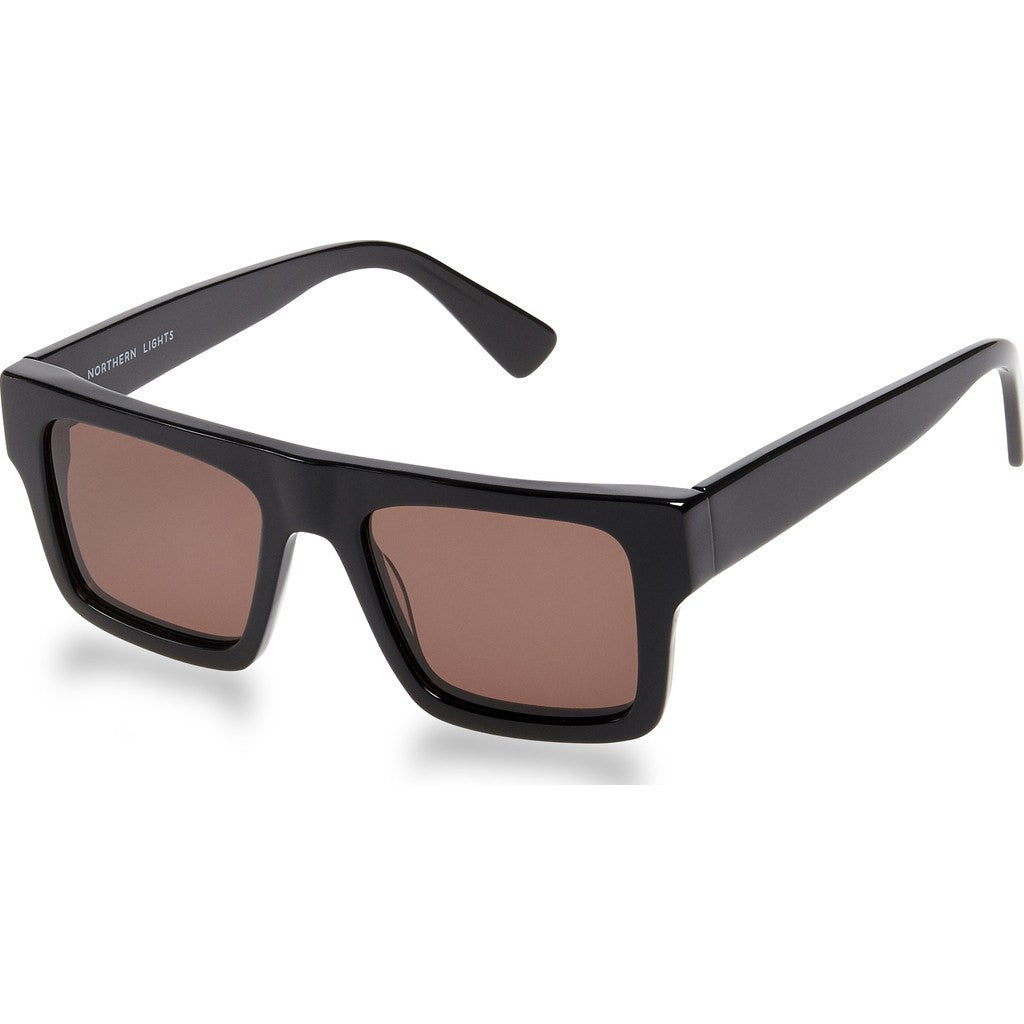 Northern Lights NL1 Gloss Black Sunglasses | Brown NL1-001-GRY