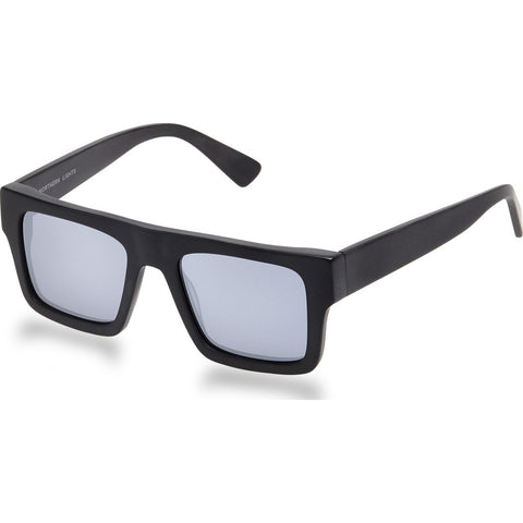 Northern Lights NL1 Matte Black Sunglasses | Silver Mirror