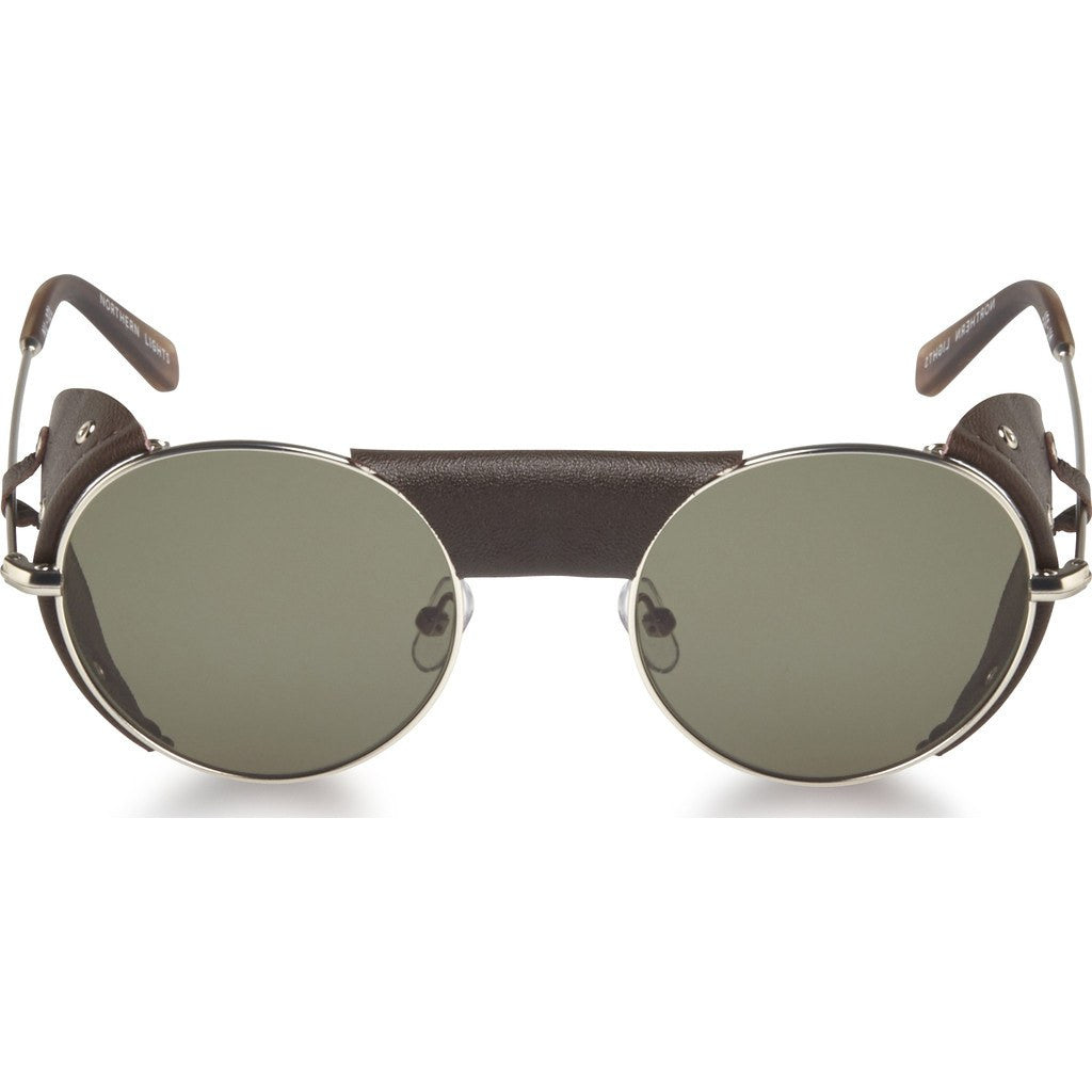 Northern Lights NL12L Matte Silver Sunglasses | Green NL12L-039-GRN