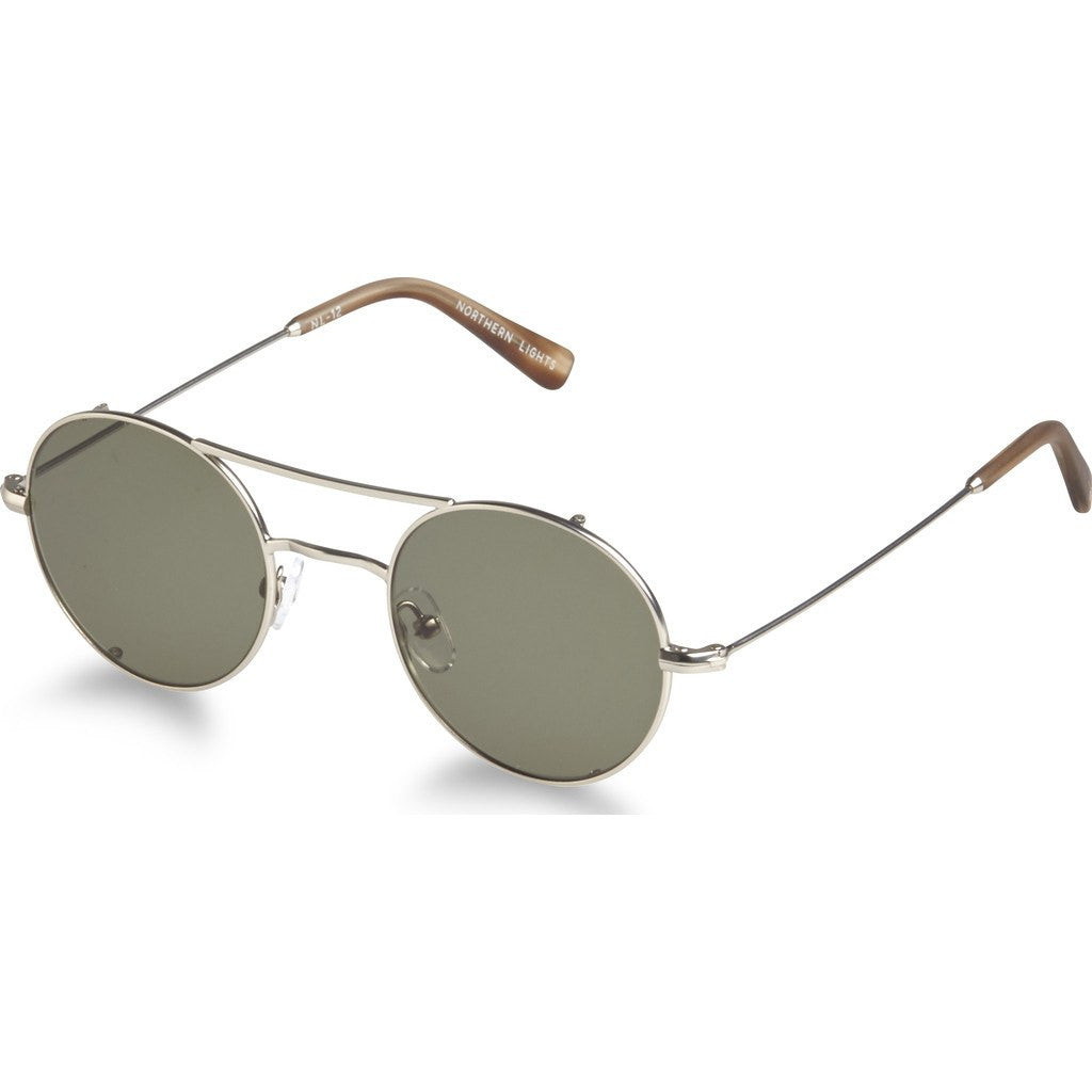 Northern Lights NL12S Matte Silver Sunglasses | Green NL12S-036-GRN