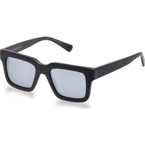 Northern Lights NL15 Matte Black Sunglasses | Silver Mirror NL15-025-SMIR