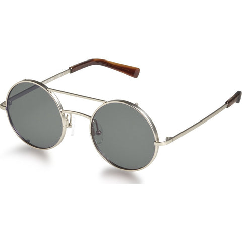 Northern Lights NL6 Matte Silver Sunglasses | Green NL6-030-GRN