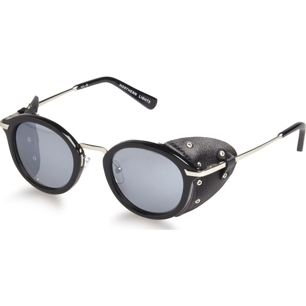 Northern Lights NL9 Gloss Black Sunglasses | Silver Mirror