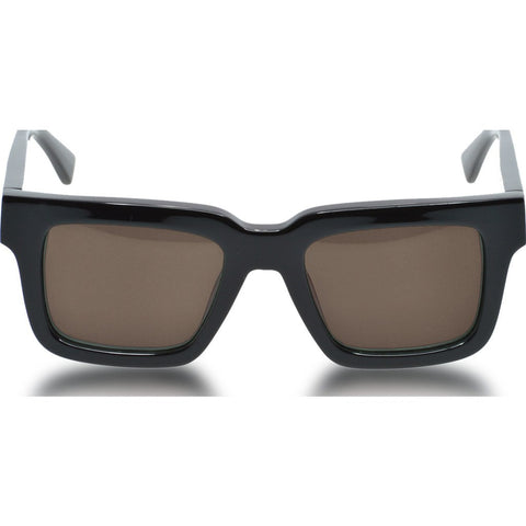 Northern Lights NL15 Gloss Black Sunglasses | Brown