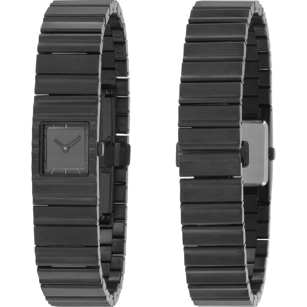 Issey Miyake V Black Hairline Finished Watch | Steel Nyac003Y