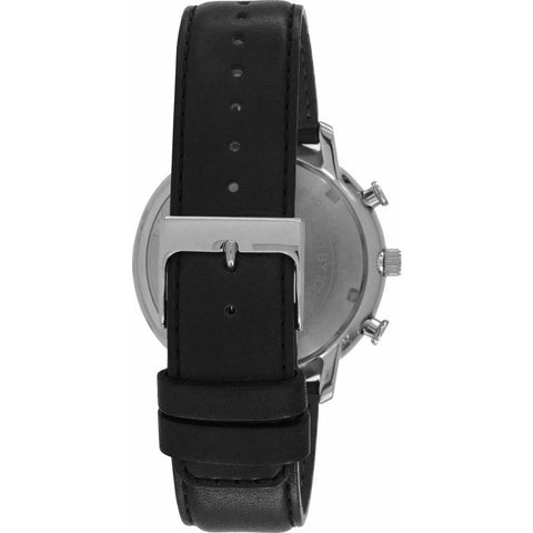 Issey Miyake C Black Chronograph Watch | Black Leather NYAD003Y