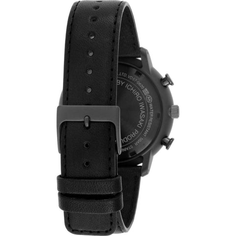 Issey Miyake C Black Chronograph Watch | Black Leather NYAD007